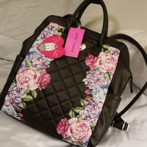 Betse Johnson Floral Backpack